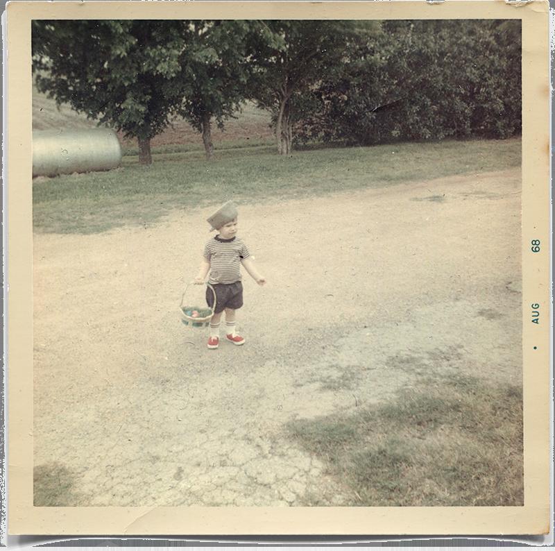 Easter 1968 at Grandma & Grandpa Blankenburg's.