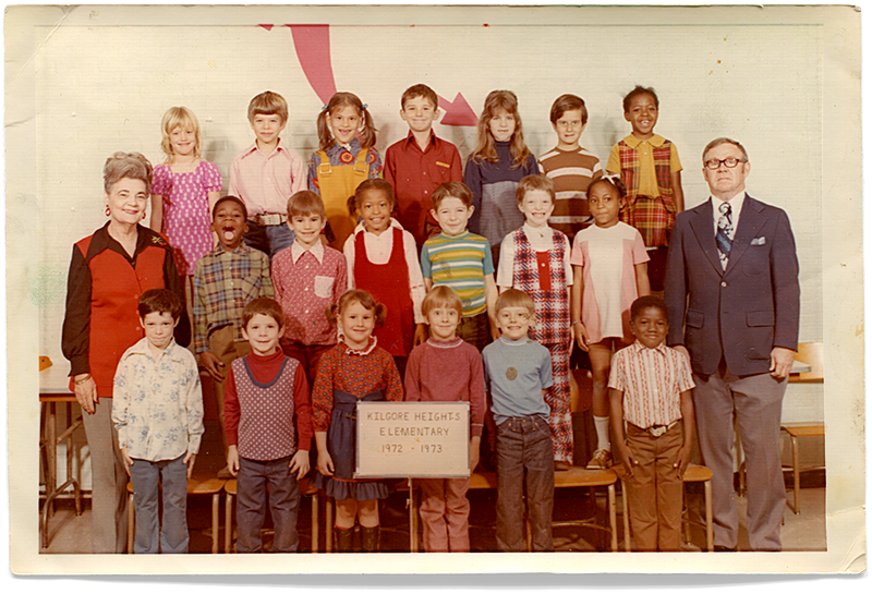 Mrs. Gray's First Grade Class, 1972–1973. I'm in the middle row, second from the left.