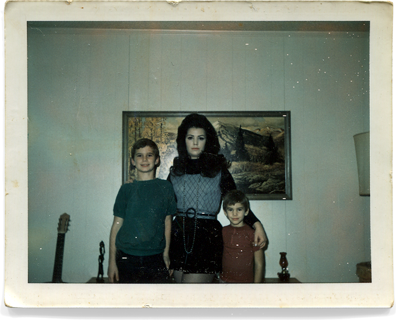 Danny, Mom and me in 1972.