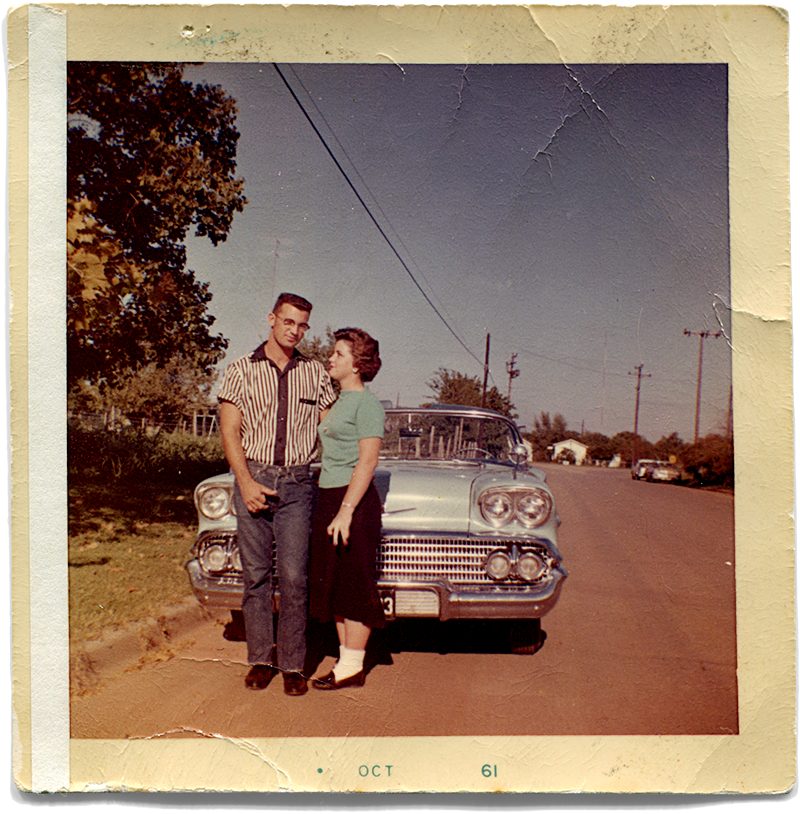 My father and mother in 1961