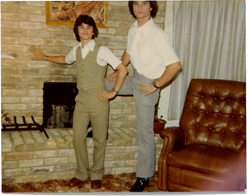 Danny & Me at 604 Houston, 1980.